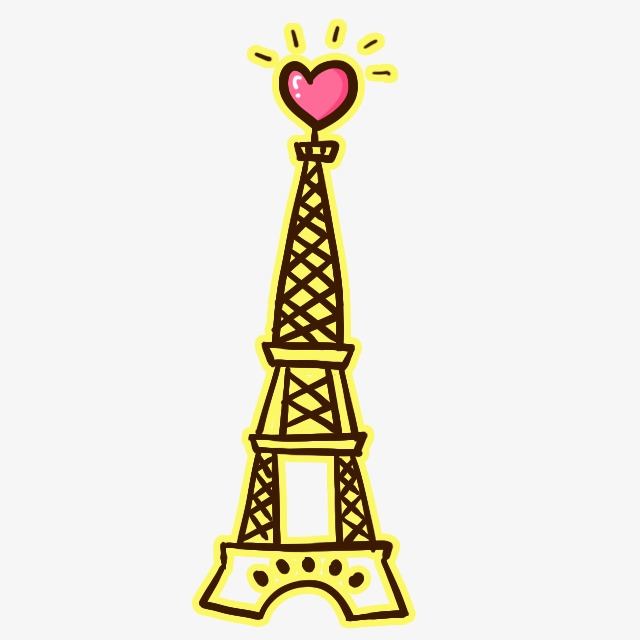 640x640 Hand Painted Eiffel Tower, Eiffel Tower, Hand Painted, Love Png
