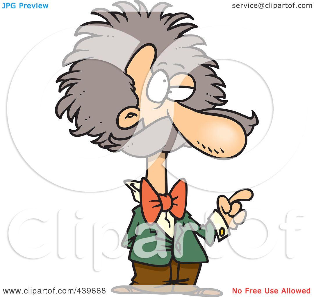 1080x1024 Royalty Free (Rf) Clip Art Illustration Of A Cartoon Einstein