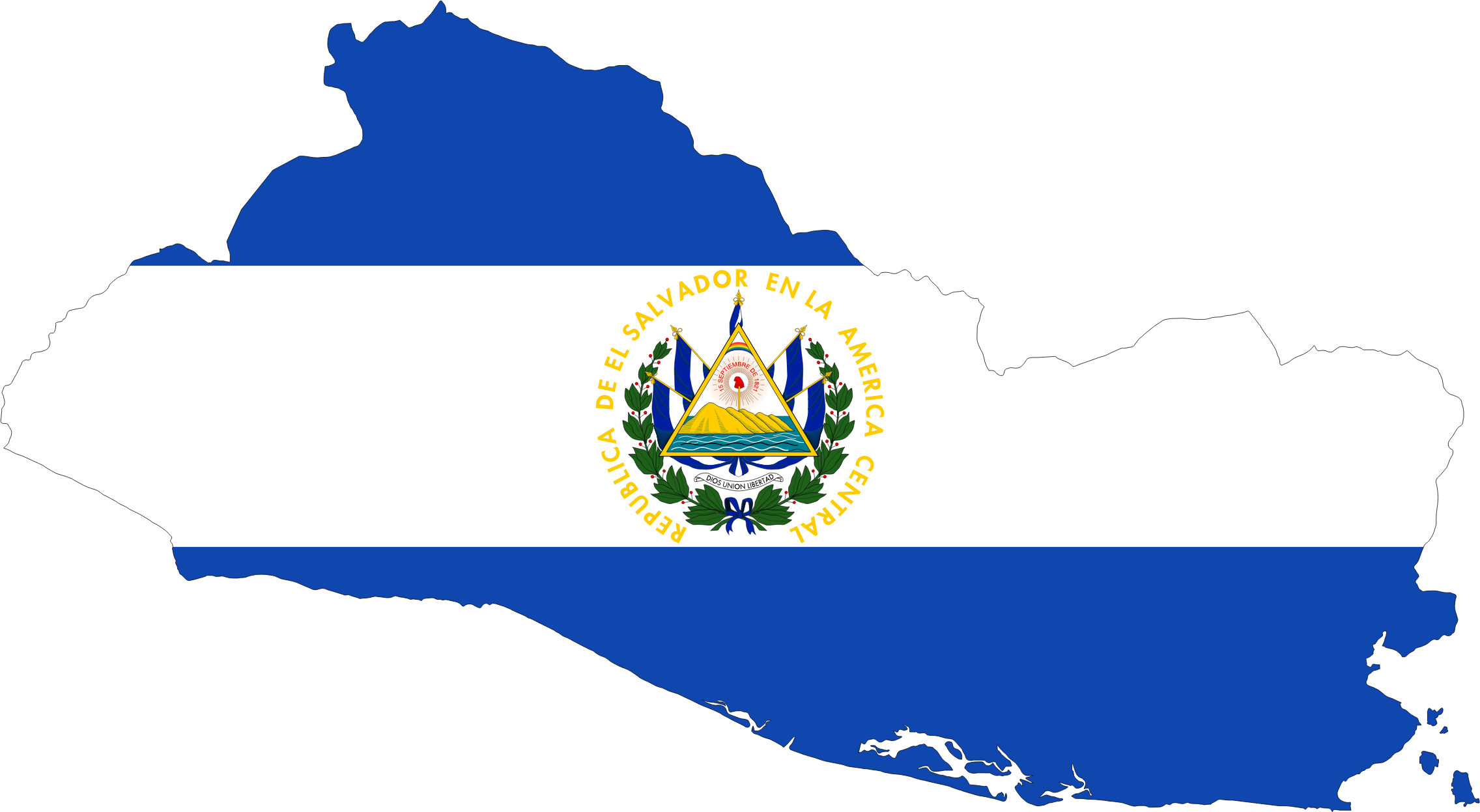 2272x1247 El Salvador Map Flag Icons Png
