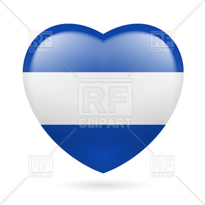 400x400 Heart With Salvadoran Flag Colors. I Love El Salvador Royalty Free