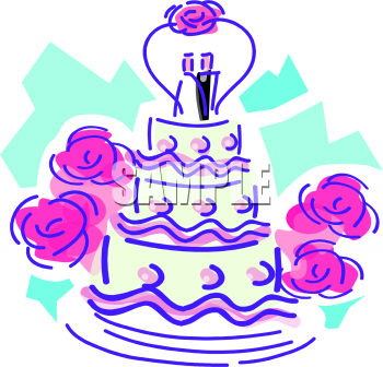 350x336 Clipart Wedding Cake