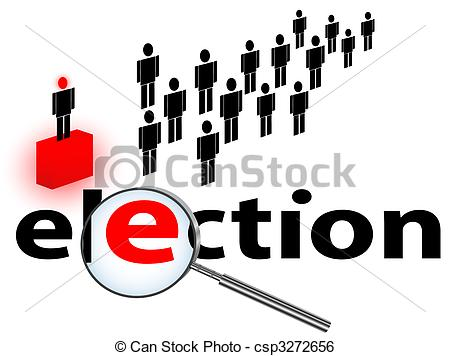 450x356 Illustration Of Election Theme Against White Background Clip Art