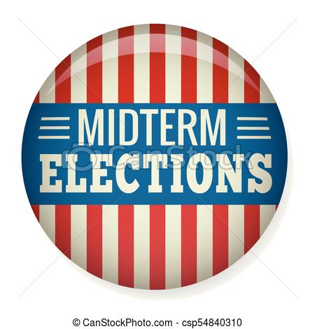 450x470 Retro Midterm Elections Vote Or Election Pin Button Badge