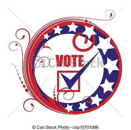 450x447 Clip Art Vector Of Circular Vote Banner Badge Frame