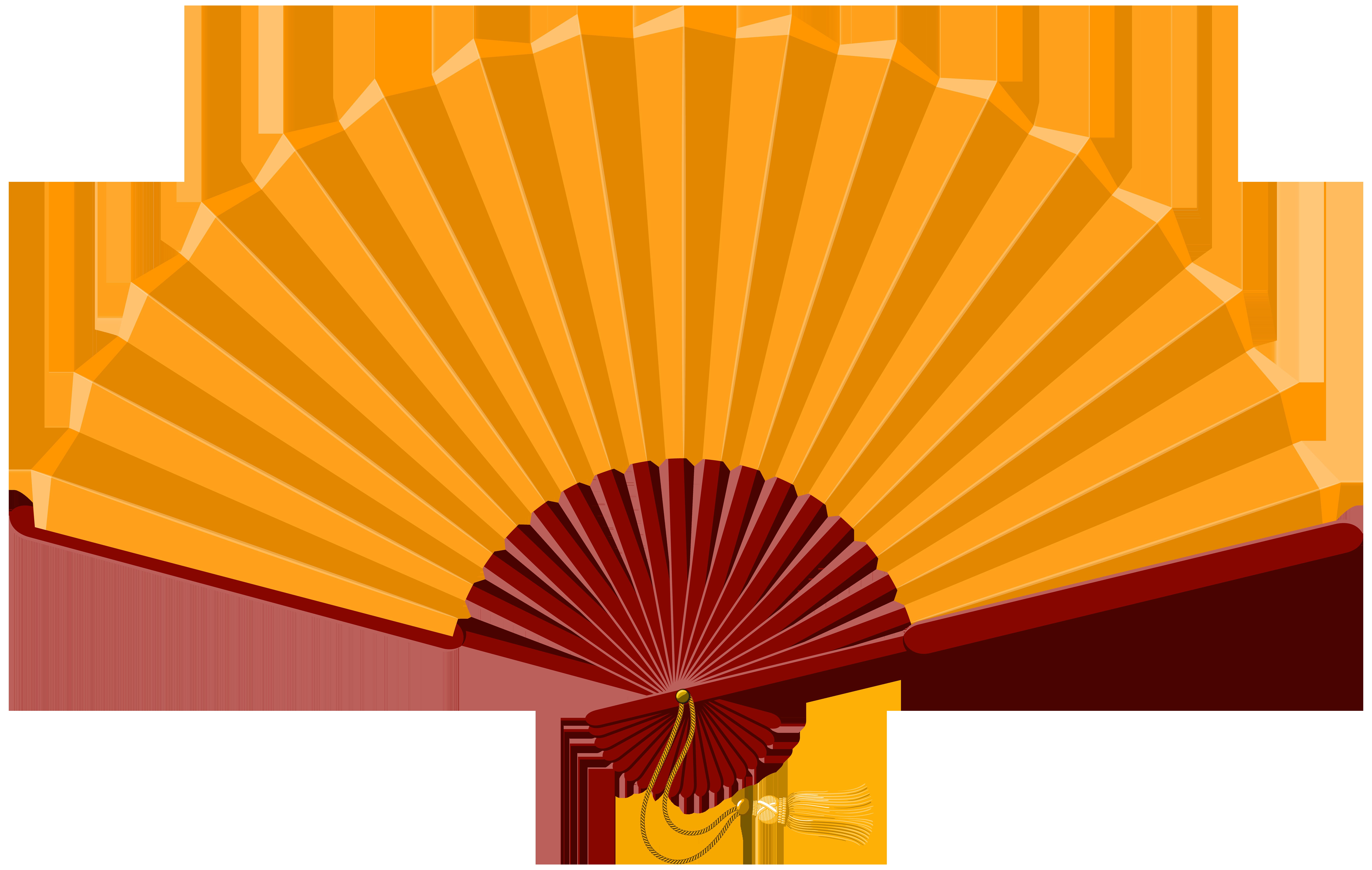 8000x5072 Chinese Fan Clip Art Web Clipart Clipartandscrap