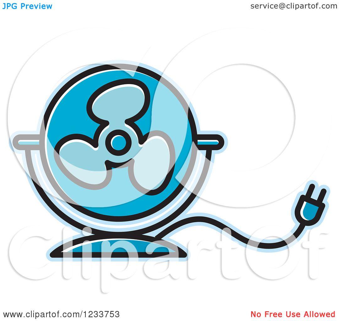 1080x1024 Clipart Of A Blue Electric Fan