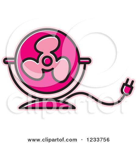 450x470 Clipart Of A Pink Electric Fan