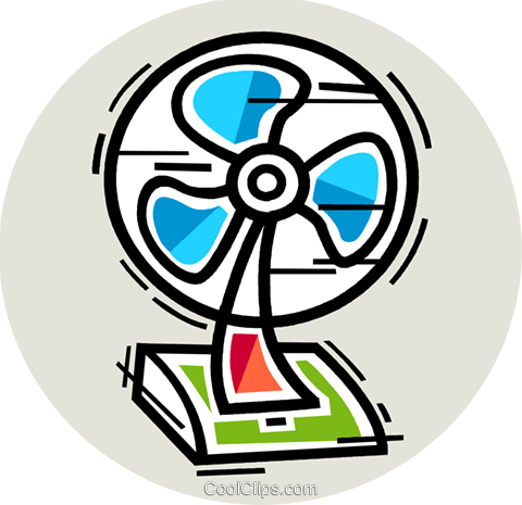 480x465 Electric Fan Royalty Free Vector Clip Art Illustration Vc106926