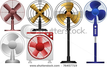 450x285 Layered Vector Illustration Of Different Kinds Of Electric Fans
