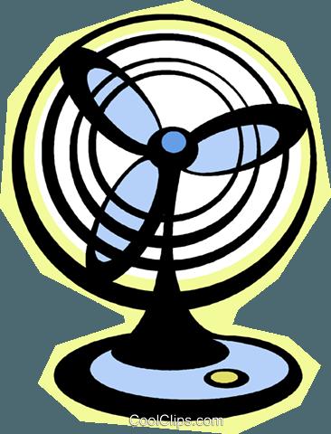 366x480 Electric Fan Royalty Free Vector Clip Art Illustration Vc010801