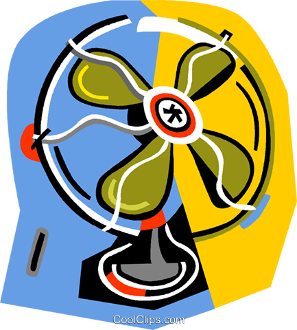 433x480 Electric Fans Royalty Free Vector Clip Art Illustration Vc014229