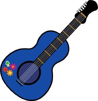 340x349 Guitar Clip Art Home Summer Of Love Clip Art