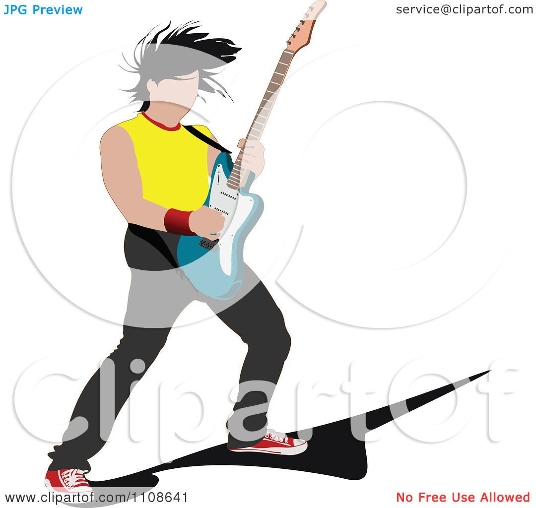 1080x1024 Guitar Clipart Clip Art Personal Commercial Use Rock And Roll Girl