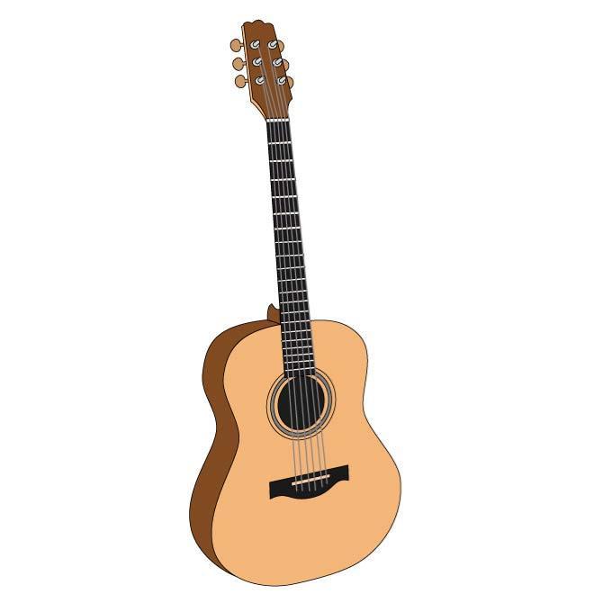 660x660 Acoustic Guitar Clip Art Image