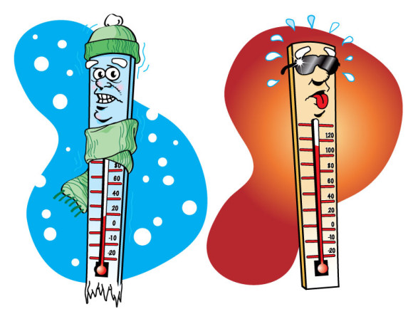 580x448 Clipart Of Thermometer