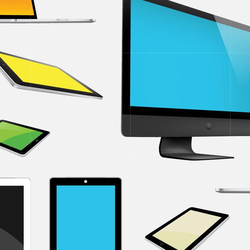 850x850 Computer Tablet Digital Vector Clip Art Laptop Ipad Electronic
