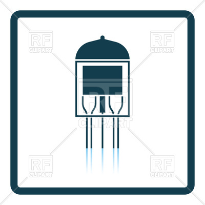 400x400 Electronic Vacuum Tube Icon Royalty Free Vector Clip Art Image