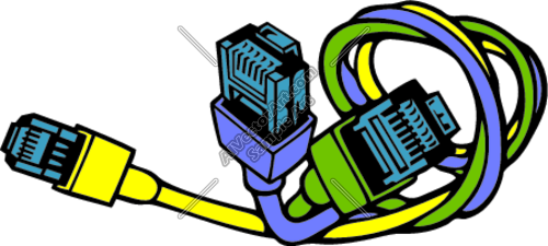 500x225 Network Cat5 And Cat6 Cables Clipart And Vectorart Occupations