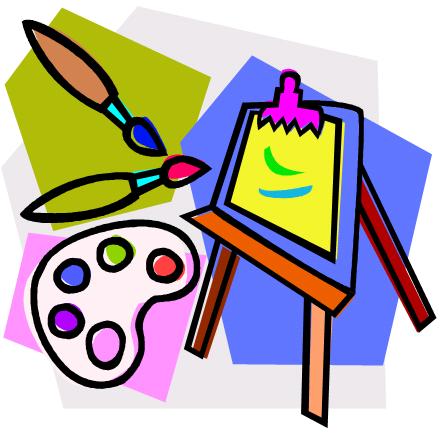 442x434 Elementary Art Class Clipart