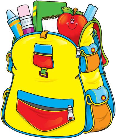 410x488 Elementary Education Clip Art Back To School Clip Art Backpacks