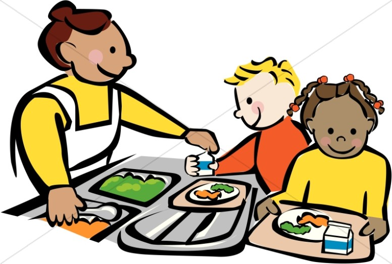 776x523 School Cafeteria Clipart Elementary Kids Eating In School