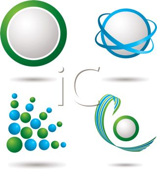 320x350 Blue And Green Logo Design Elements