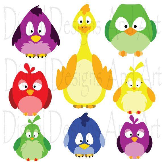 570x570 Colorful Birds Clipart, Birds Clip Art, Chicken Clipart, Bird