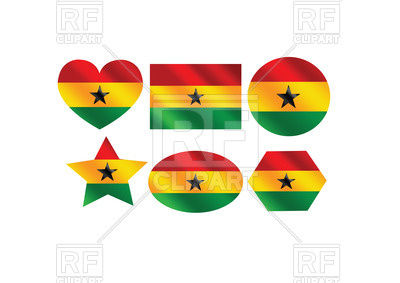 400x283 Design Elements With Flag Of Ghana Royalty Free Vector Clip Art