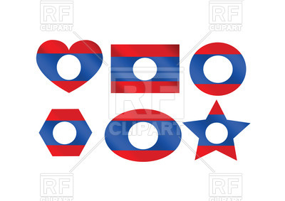 400x283 Design Elements With Flag Of Laos Royalty Free Vector Clip Art