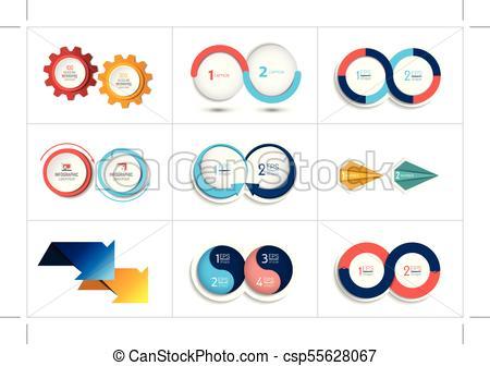 450x336 Mega Set Of Two Elements, Steps Chart, Diagram, Scheme . Clip
