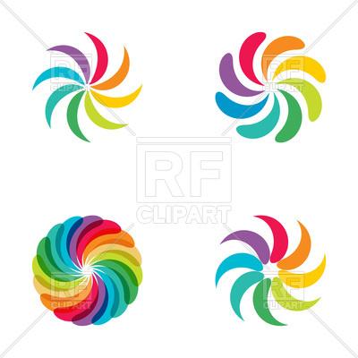 400x400 Rainbow Swirls