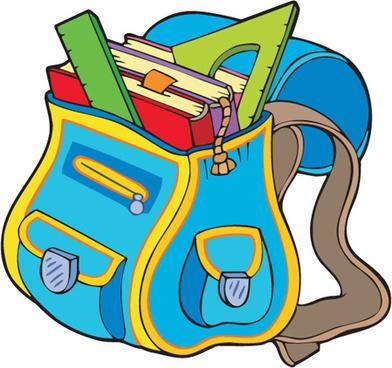 392x368 School Bag Images Clip Art Funny School Bag Design Elements Vector