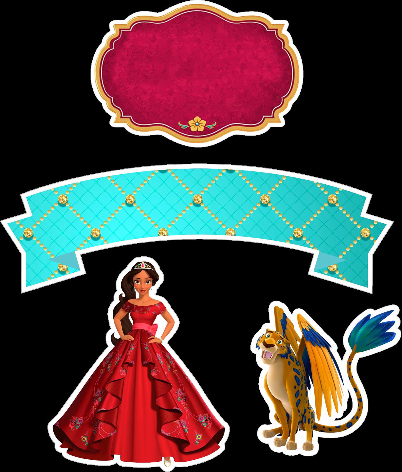 1363x1600 Topo De Bolo Princesa Elena De Avalor Parthys