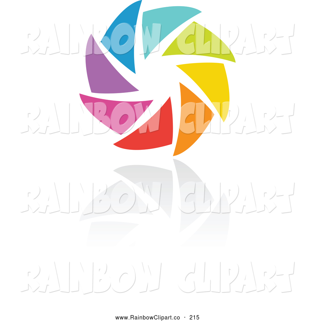 1024x1044 Vector Clip Art Of A Rainbow Circle Logo Design Or Camera Shutter