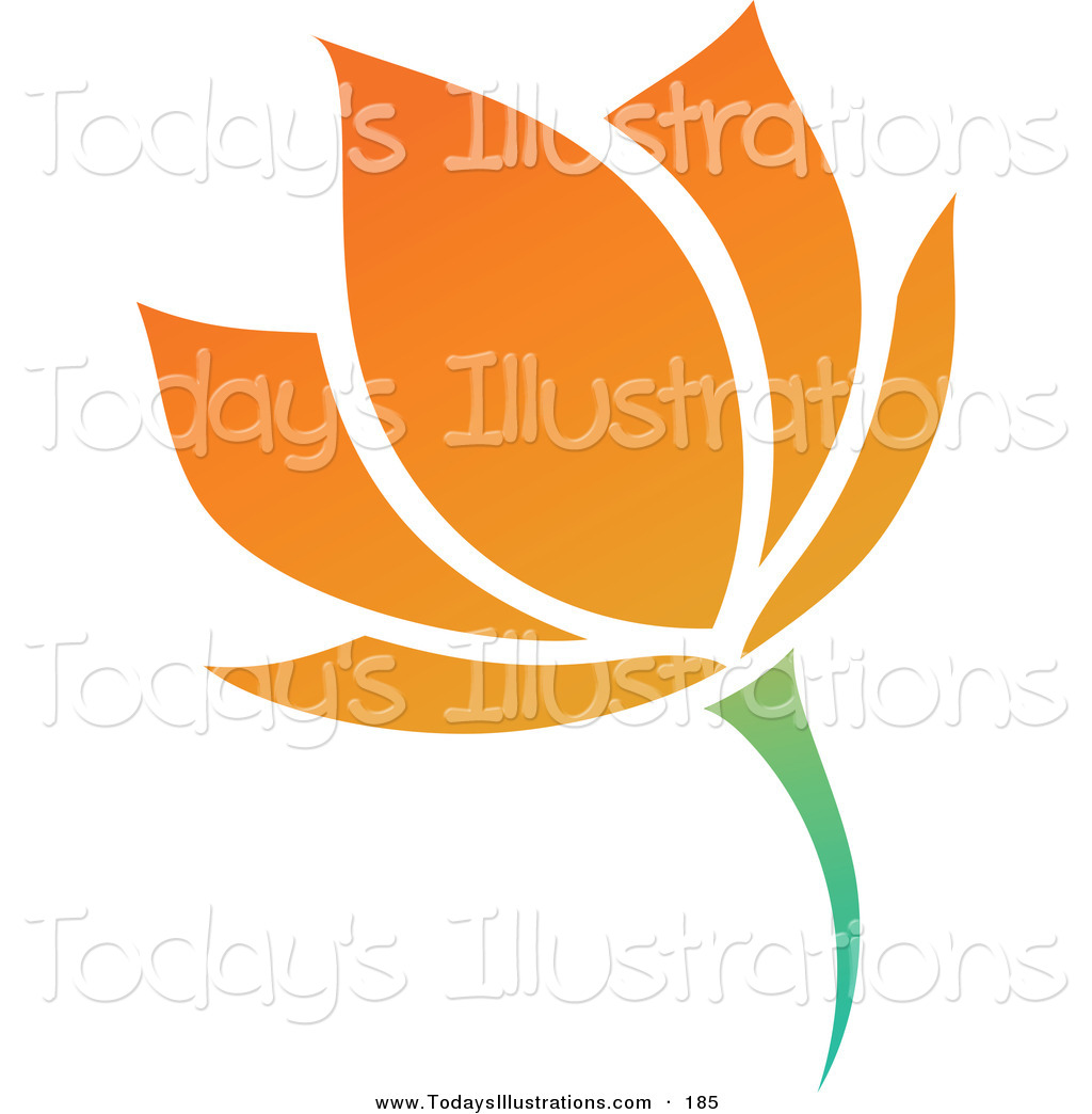 1024x1044 Clipart Of A Blooming Orange Flower Logo Icon By Elena