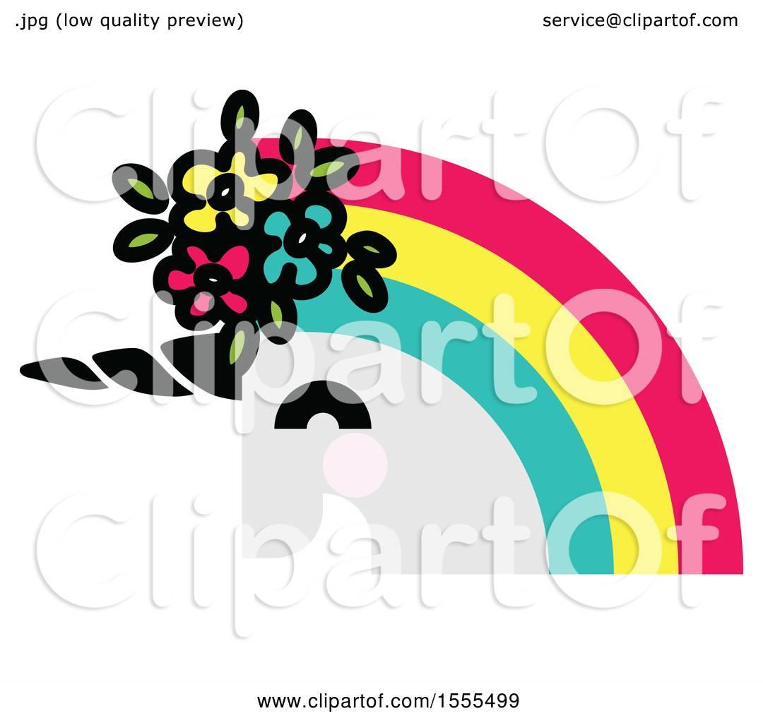 1080x1024 Clipart Of A Rainbow Haired Unicorn Head