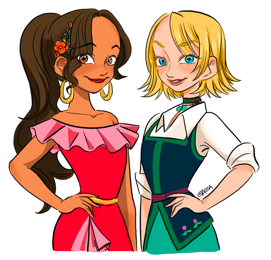 913x875 Elena Of Avalor] Elena And Naomi By Area32