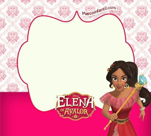 500x450 Elena De Avalor Imagenes Marcos Infantiles Princesas Disney