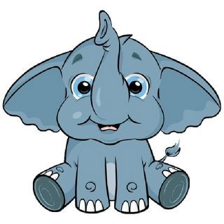 320x320 Cute Baby Elephant Clip Art