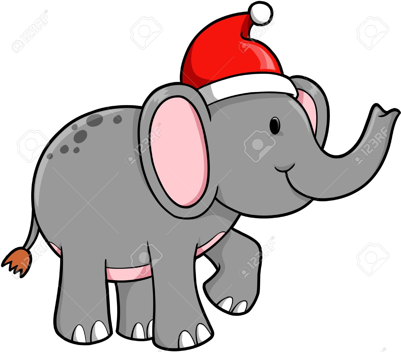 1300x1141 Elephant Clipart Christmas Pencil And In Color Clip Art