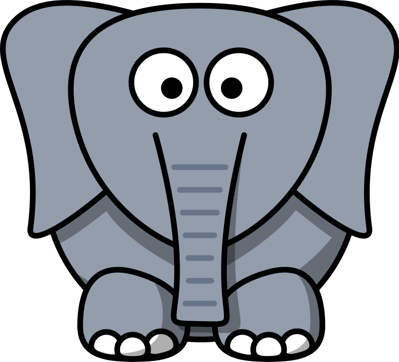 800x726 Free Cartoon Elephant Clip Art
