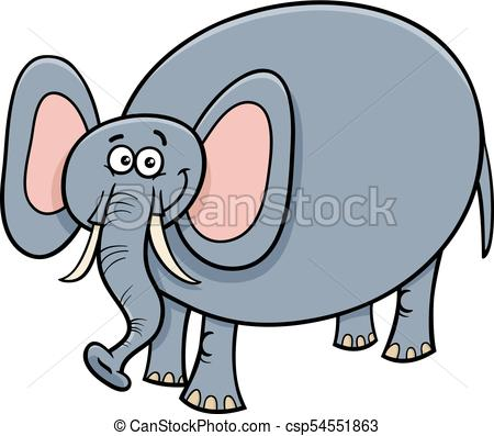 450x397 Funny Elephant Animal Cartoon Character. Cartoon Clip Art