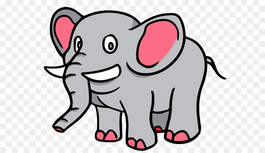 900x520 Cartoon Drawing Elephant Clip Art
