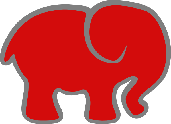 600x436 Red Elephant Clipart