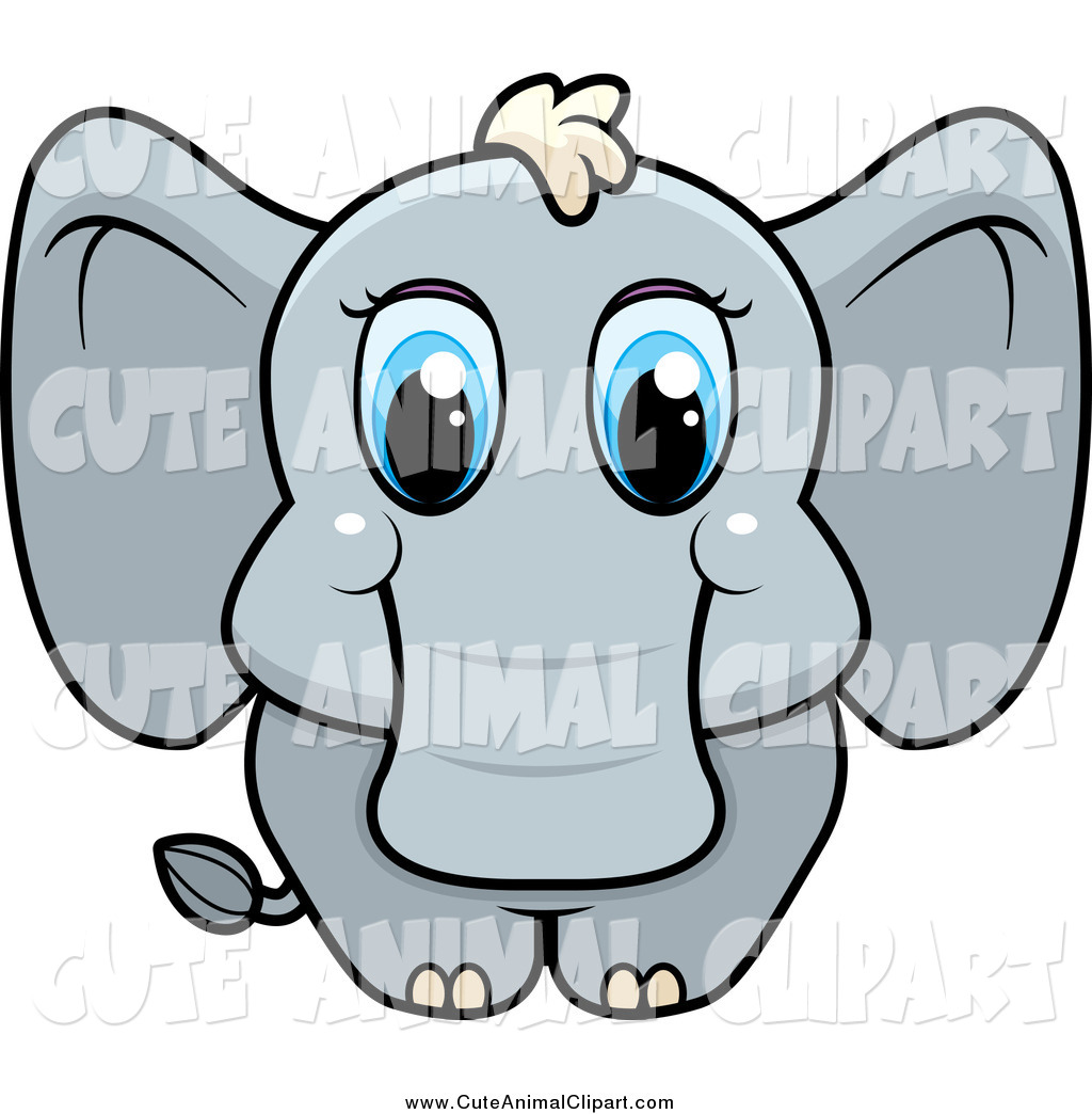 1024x1044 Vector Cartoon Clip Art Of A Cute Baby Elephant With Blue Eyes By