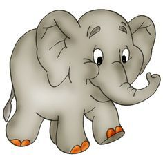 236x236 Cartoon Elephants Baby Elephant Page 2