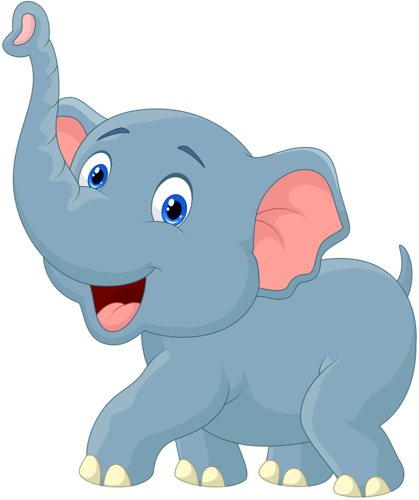 419x500 Cartoon Elephant Vector (11) Elefantes