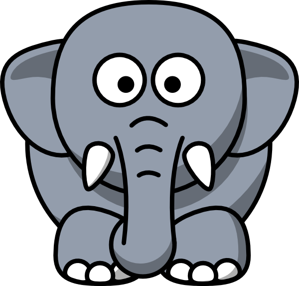 600x573 Cartoon Elephant Clip Art Vector Clip Art Online Royalty Free