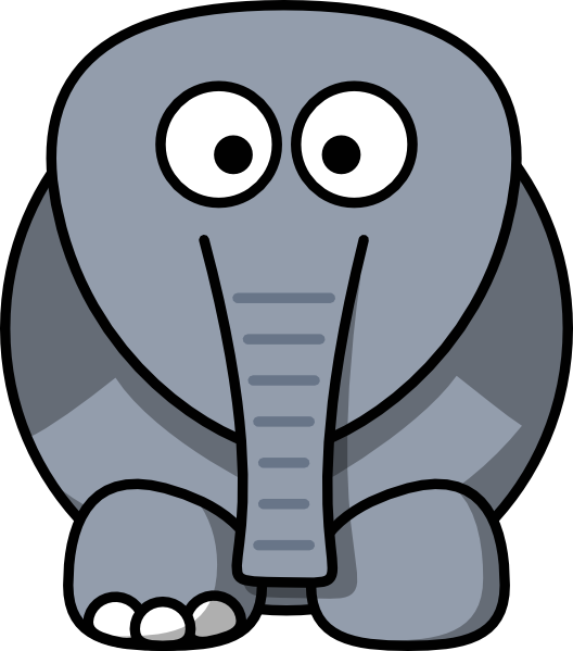 528x599 Crippled Elephant Clip Art
