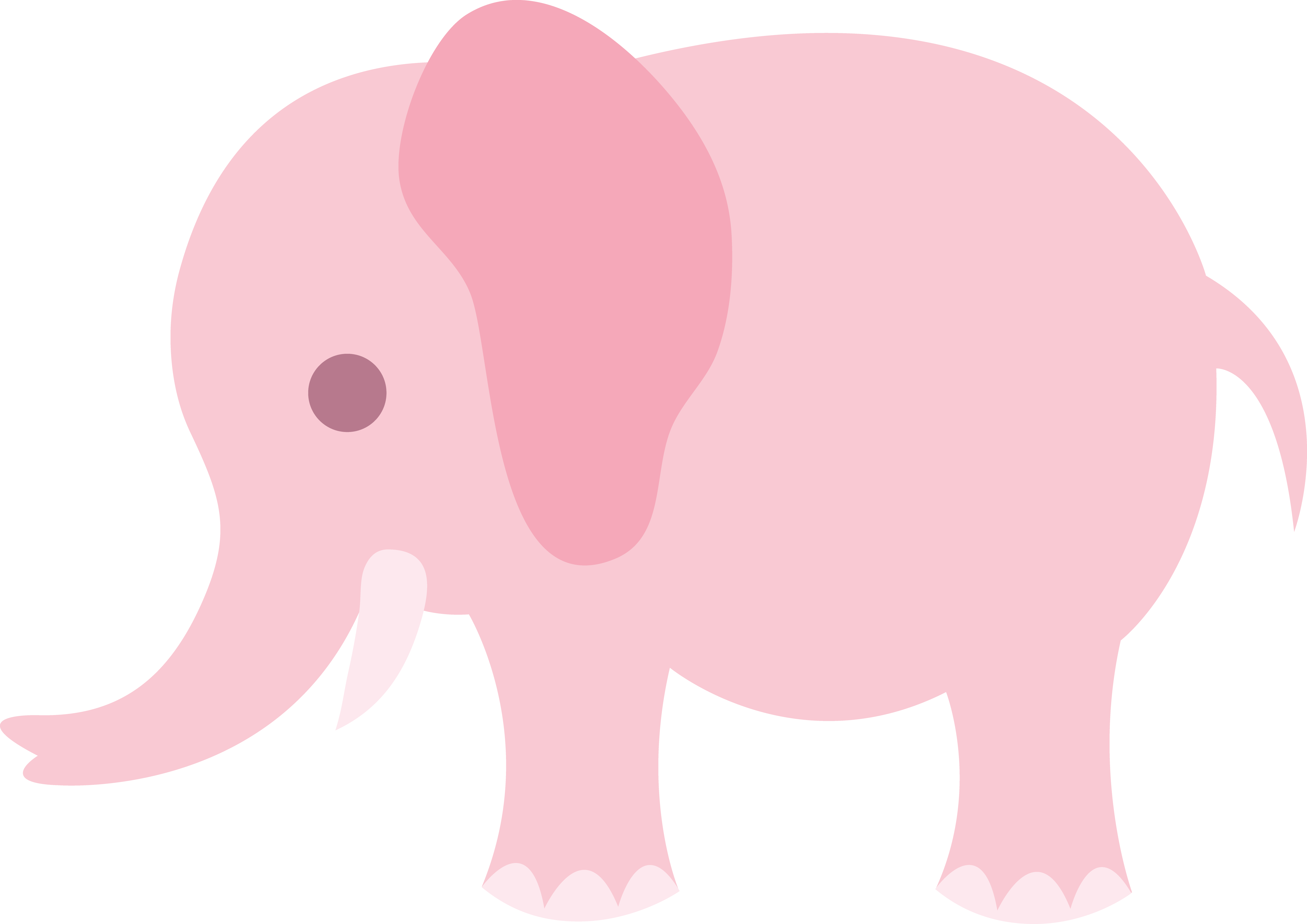 5786x4090 Little Pink Elephant Clip Art
